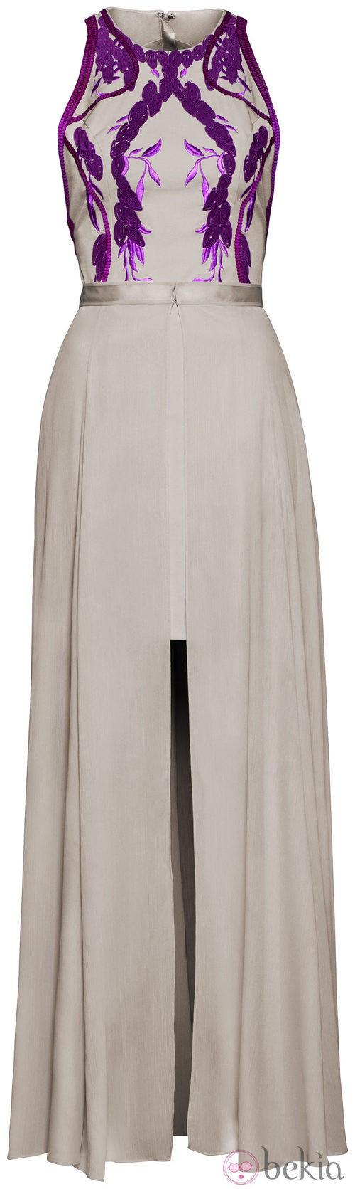 Vestido blanco roto estampado H&M Conscious