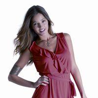 Malena Costa con vestido de la firma Tentazioni