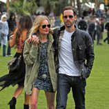 Kate Bosworth con botas Hunter en Coachella 2012