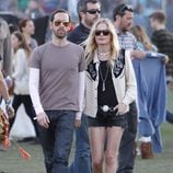 Kate Bosworth con shorts vaqueros en Coachella 2012