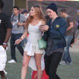 Lindsay Lohan con bota de Jeffrey Campbell en Coachella 2012