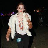 Emma Watson con look hippie en el Festival de Coachella 2012
