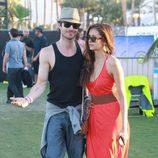 Ian Somerhalder y Nina Dobrev en el Festival de Coachella 2012