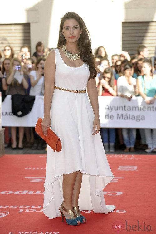 Inma Cuesta con un vestido de corte 'tail hem' en la apertura del Festival de Málaga 2012