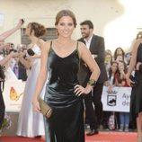 Ana Fernández con un vestido de terciopelo verde en la apertura del festival de Málaga 2012