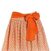 Falda naranja con estampado de la nueva marca de ropa Veraluna