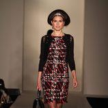 Vestido tejido tweed de la temporada otoño/invierno de Oscar de la Renta 2012/2013