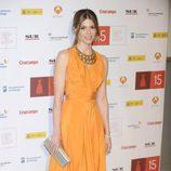Manuela Velasco con vestido en color yema durante la clausura del Festival de Málaga 2012