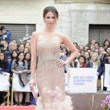Vanesa Romero con vestido en color maquillaje palabra de honor en la clausura del Festival de Málaga 2012