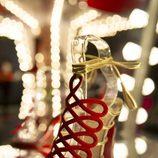 Sandalias de Christian Louboutin expuestas en el Museo del Diseño en Londres