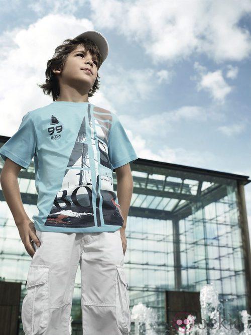Camiseta con motivos marineros de la nueva colección Boss Niños primavera/verano 2012