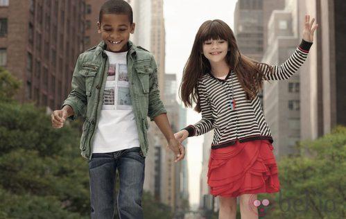 Conjuntos niño y niña de la colección infantil de DKNY primavera/verano 2012