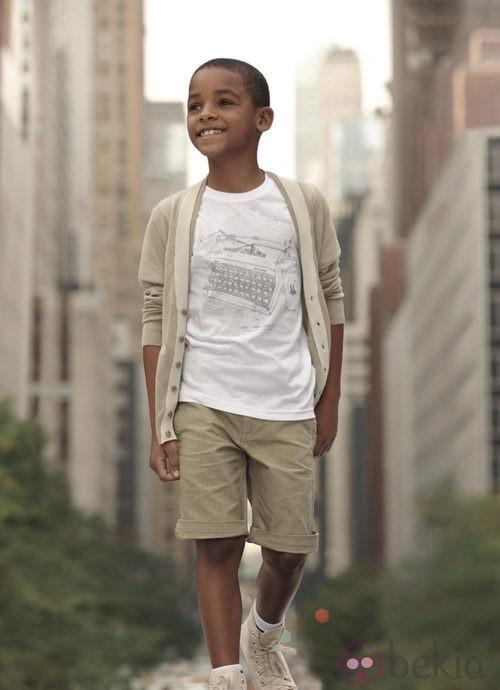 Conjunto beige niño de la colección infantil de DKNY primavera/verano 2012