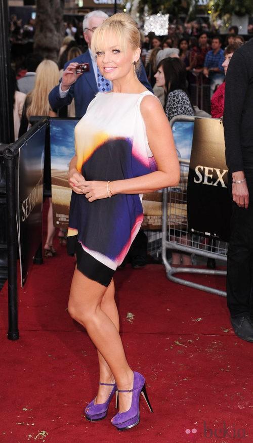 Emma Bunton con un vestido de su amiga Victoria Beckham