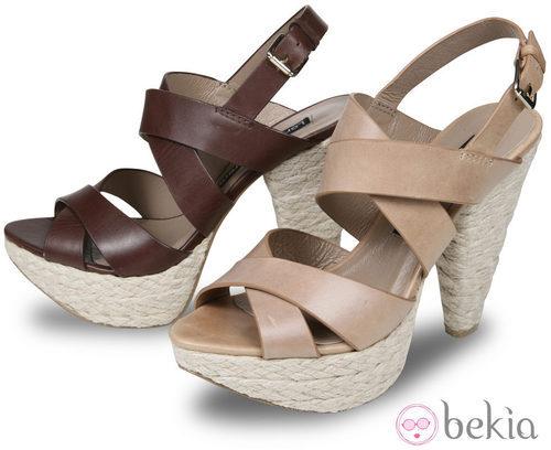 Sandalias de esparto de la colección primavera/verano 2012 de Lorena Carreras