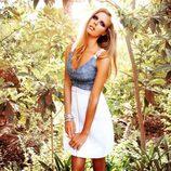 Vestido en dos colores de la colección Laura Bernal para esta primavera/verano 2012