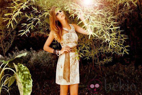 Vestido floreado de la colección Laura Bernal para esta primavera/verano 2012