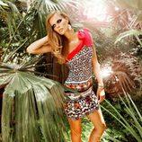 Vestido asimétrico de la colección Laura Bernal para esta primavera/verano 2012