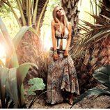 Look con falda larga de la colección Laura Bernal para esta primavera/verano 2012