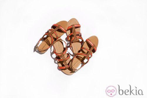 Sandalias planas de la nueva colección de Suite Blanco primavera/verano 2012