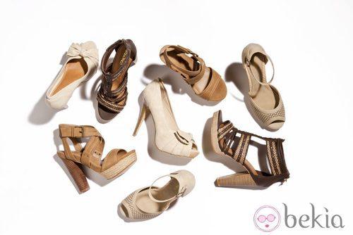 Sandalias con tacón de la nueva colección de Suite Blanco primavera/verano 2012