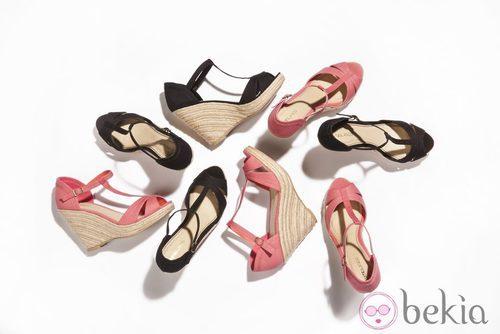 Sandalias con cuña de la nueva colección de Suite Blanco primavera/verano 2012