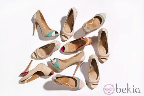 Zapatos en tonos neutros de la nueva colección de Suite Blanco primavera/verano 2012
