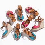 Sandalias con cuña en colores flúor de la nueva colección de Suite Blanco primavera/verano 2012