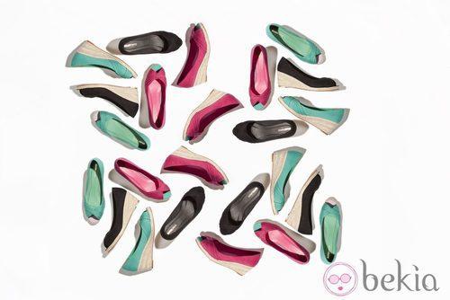 Sandalias peeptoes con cuña de esparto de la nueva colección de Suite Blanco primavera/verano 2012