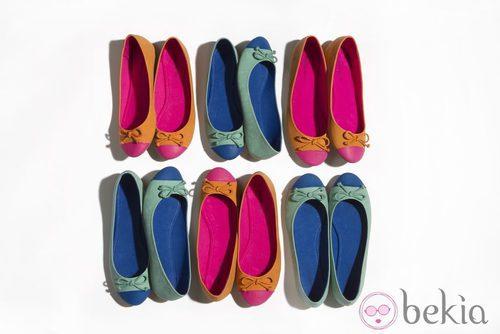 Bailarinas de la nueva colección de Suite Blanco primavera/verano 2012