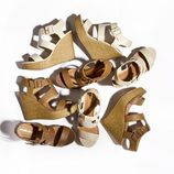 Sandalias con cuña en diversos colores de la nueva colección de Suite Blanco primavera/verano 2012