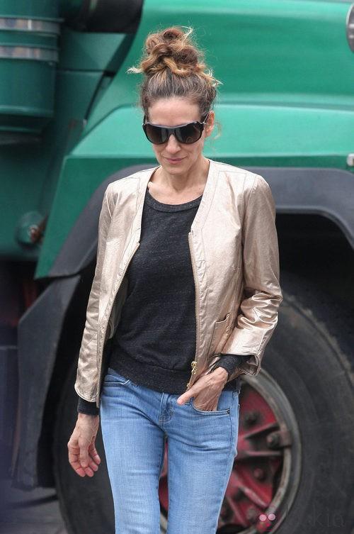 Sarah Jessica Parker con gafas de sol por las calles de Nueva York