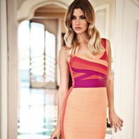 Vestido ceñido multicolor de la colección verano 2012 de BDBA