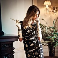 Vestido negro estampado de la colección verano 2012 de BDBA