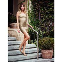Vestido ceñido dorado de la colección verano 2012 de BDBA