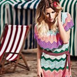 Vestido multicolor con estampado zig-zag de la colección verano 2012 de BDBA