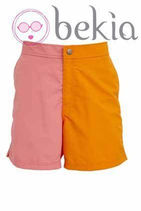 Bañador masculino rosa y naranja de la nueva colección de baño 2012 de Asos