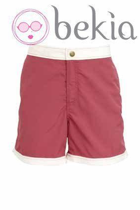 Bañador masculino rosa y blanco de la nueva colección de baño 2012 de Asos