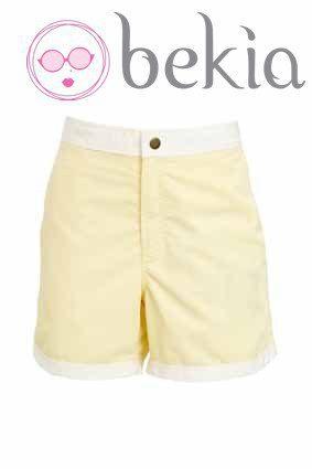Bañador masculino bicolor amarillo de la nueva colección de baño 2012 de Asos
