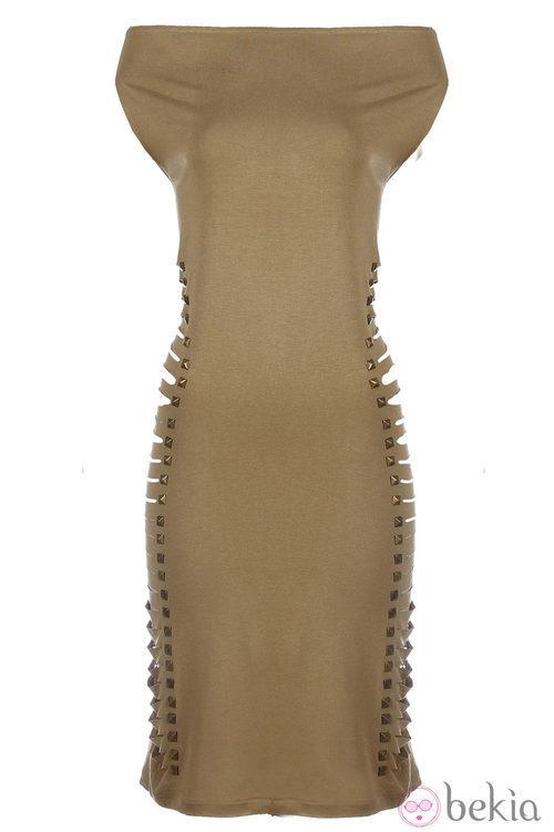 Vestido ajustado de la nueva colección Metalhead Clothing by Pilar Rubio