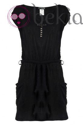 Vestido ajustado negro de la nueva colección Metalhead Clothing by Pilar Rubio