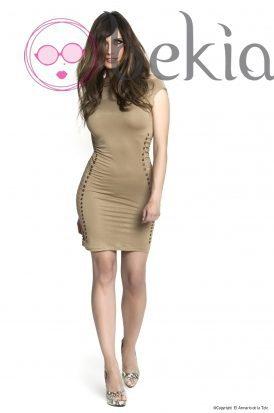 Pilar Rubio con un vestido ajustado de su colección Metalhead Clothing