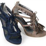 Zapatos de raso de la nueva colección de Alex Silva verano 2012