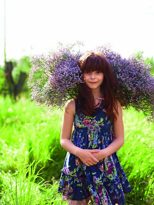Vestido estamapdo de la colección verano 2012 de Benetton Niños