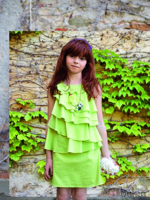 Vestido verde mint de la colección verano 2012 de Benetton Niños