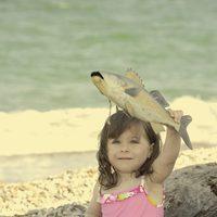 Bañador rosa de la colección verano 2012 de Dolores Cortés DC KIDS