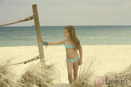 Bikini aguamarina de la colección verano 2012 de Dolores Cortés DC KIDS