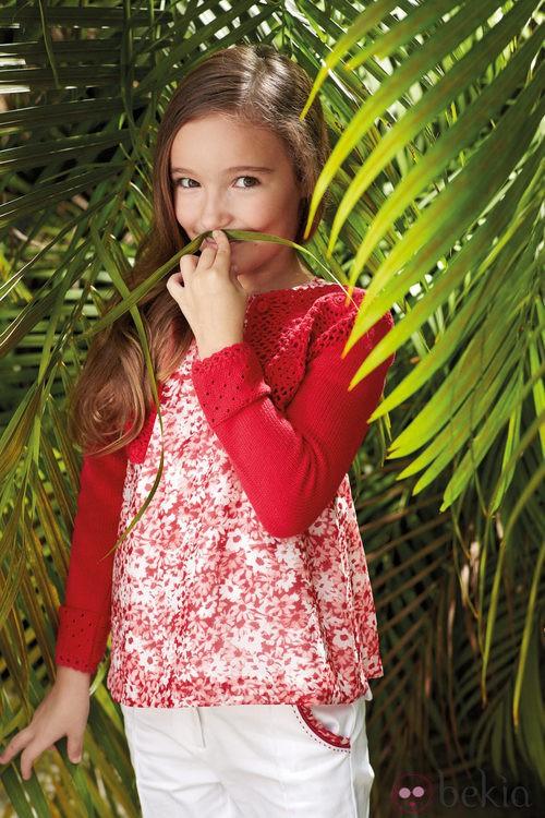 Look en blanco y rojo de niña de la nueva colección My Chicco de la casa italiana Verano 2012