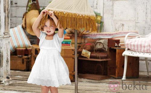Vestido blanco para niña de la nueva colección My Chicco de la casa italiana Verano 2012