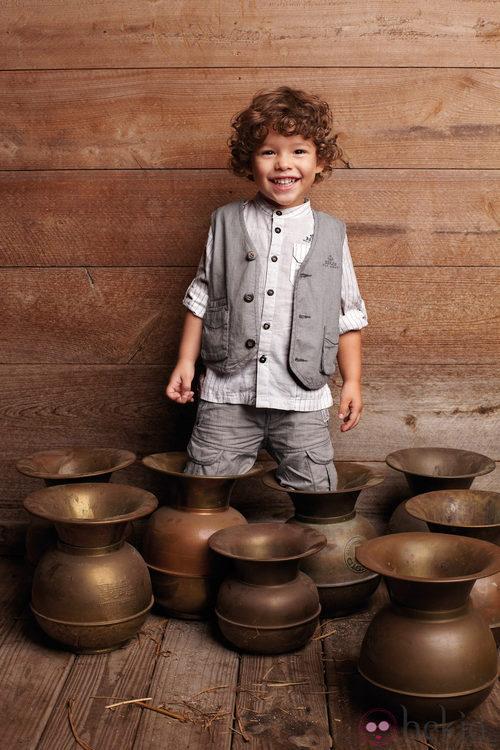 Look de niño con chaleco de la nueva colección My Chicco de la casa italiana Verano 2012